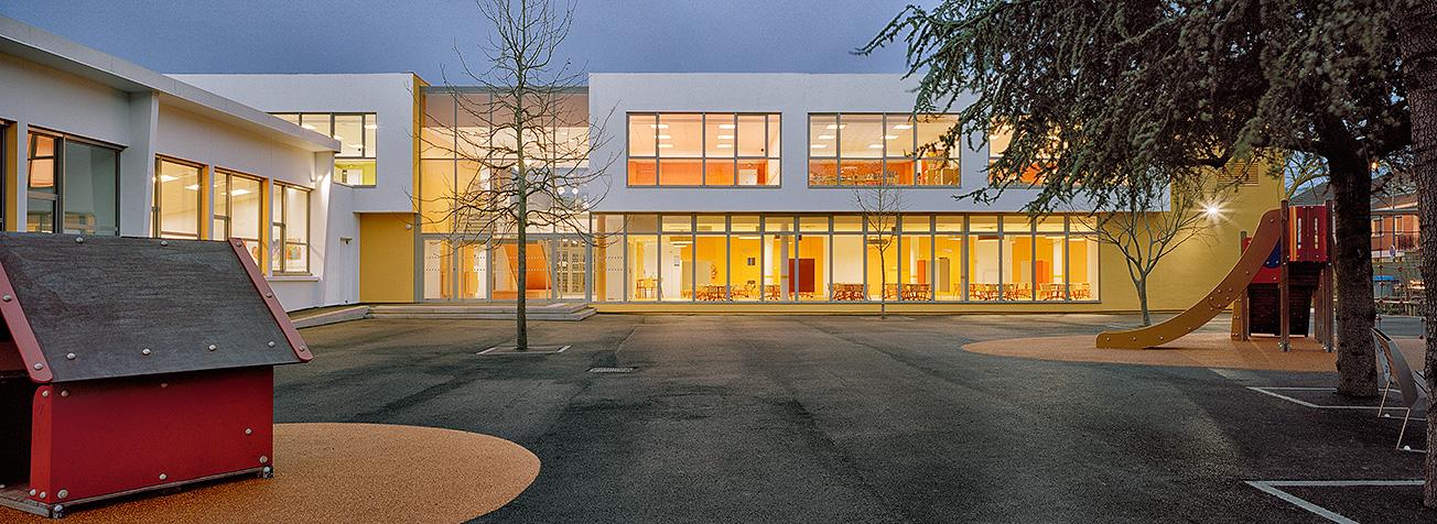 Basselier jarzaguet architectes cole maternelle for Auto ecole maison alfort